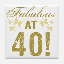 Fabulous 40th Birthday Tile Coaster