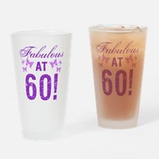 Fabulous 60th Birthday Drinking Glass