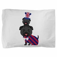 UK Pugs - Black Pug Pillow Sham