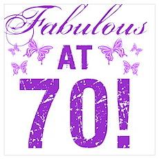 Fabulous 70th Birthday Poster