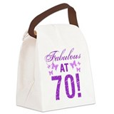 70 years old hift Canvas Lunch Bag