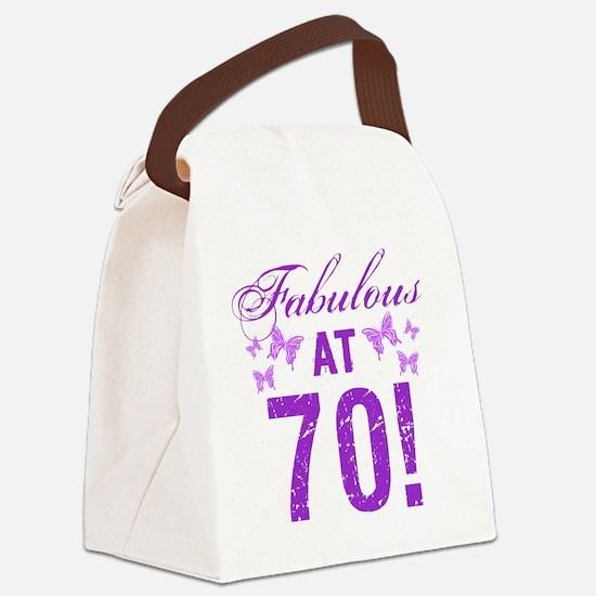 Fabulous 70th Birthday Canvas Lunch Bag