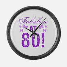 Fabulous 80th Birthday Large Wall Clock