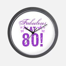 Fabulous 80th Birthday Wall Clock