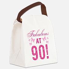 Fabulous 90th Birthday Canvas Lunch Bag
