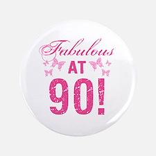 Fabulous 90th Birthday Button