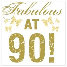 Fabulous 90th Birthday Poster