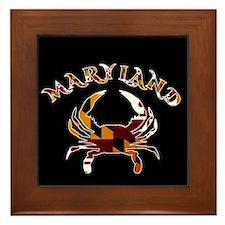 Maryland Crab Framed Tile