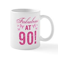 Fabulous 90th Birthday Mugs