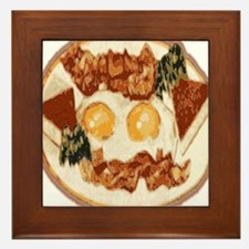 Bacon and Eggs Framed Tile