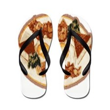 Bacon and Eggs Flip Flops