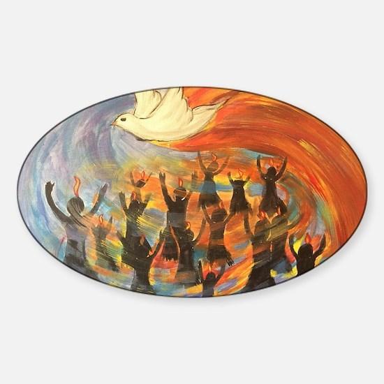 Unique Holy spirit Sticker (Oval)