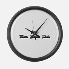 Port Wing Beach West Classic Retr Large Wall Clock
