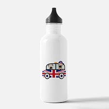 UK Pugs - Pug Taxi Water Bottle