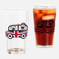 UK Pugs - Pug Taxi Drinking Glass