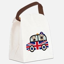 UK Pugs - Pug Taxi Canvas Lunch Bag