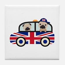 UK Pugs - Pug Taxi Tile Coaster