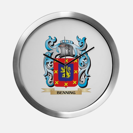 Benning Coat of Arms - Family Cr Modern Wall Clock