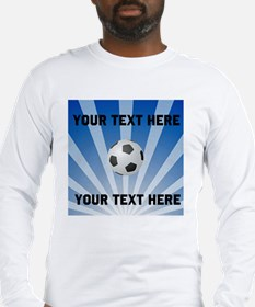 Personalized Soccer Long Sleeve T-Shirt