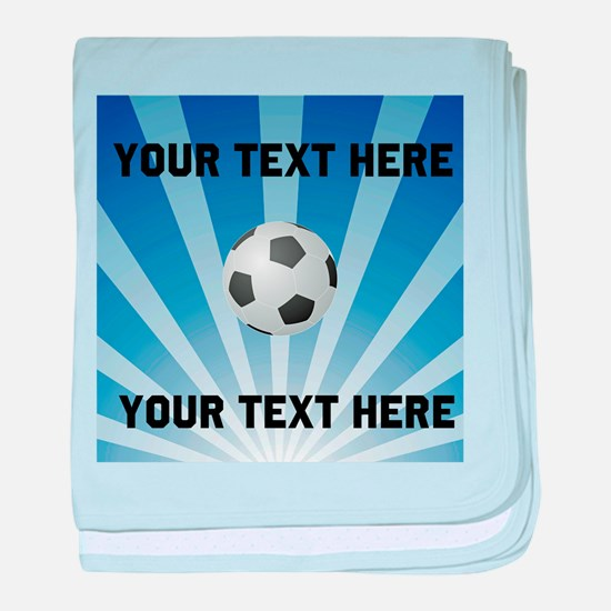 Personalized Soccer baby blanket