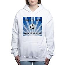 Personalized Soccer Women's Hooded Sweatshirt
