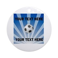 Personalized Soccer Ornament (Round)