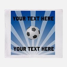 Personalized Soccer Throw Blanket