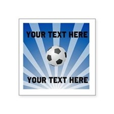 Personalized Soccer Square Sticker 3