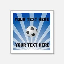 "Personalized Soccer Square Sticker 3"" x 3"""