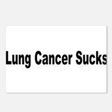 Lung Cancer Sucks Postcards (Package of 8)