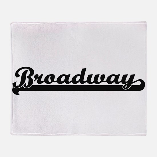 Broadway Classic Retro Design Throw Blanket
