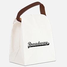 Broadway Classic Retro Design Canvas Lunch Bag