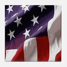 Patriotic Flag Tile Coaster