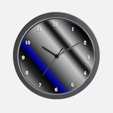 Blue Strpe White Numbers Wall Clock