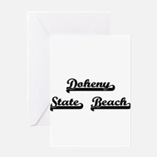 Doheny State Beach Classic Retro De Greeting Cards