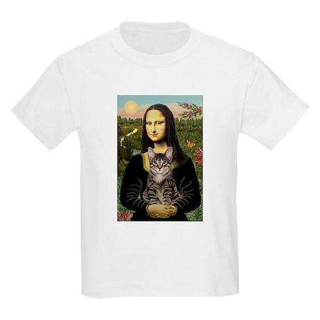 Mona's Tiger Cat Kids Light T-Shirt