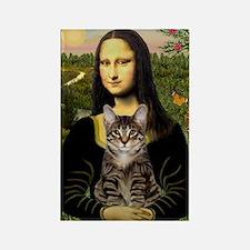 Mona's Tiger Cat Rectangle Magnet