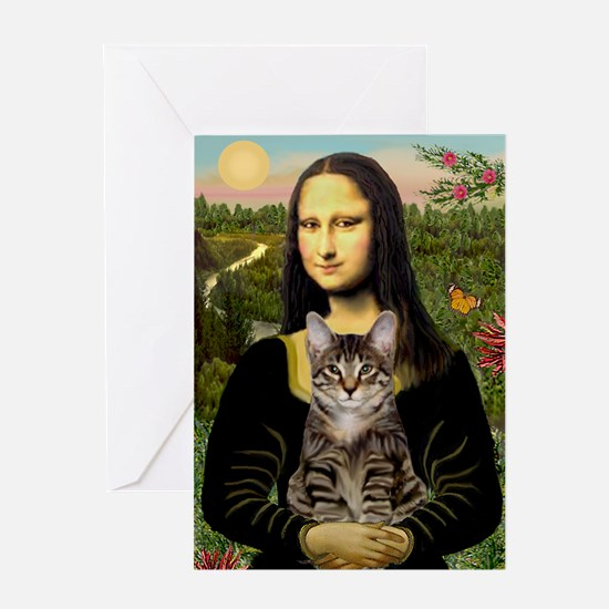 Mona's Tiger Cat Greeting Card
