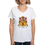 Jacobe Family Crest Women's V-Neck T-Shirt