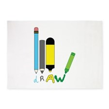 Draw Pencils 5'x7'Area Rug