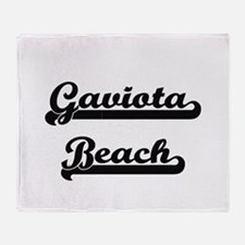 Gaviota Beach Classic Retro Design Throw Blanket