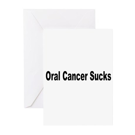 Oral Cancer Sucks Greeting Cards (Pk of 10)