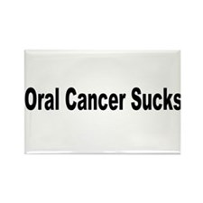 Oral Cancer Sucks Rectangle Magnet