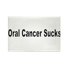 Oral Cancer Sucks Rectangle Magnet