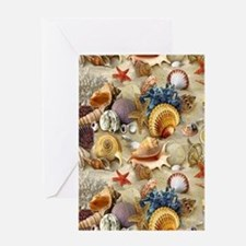 Seashells And Starfish Greeting Cards