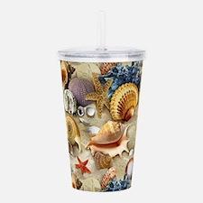 Seashells And Starfish Acrylic Double-wall Tumbler