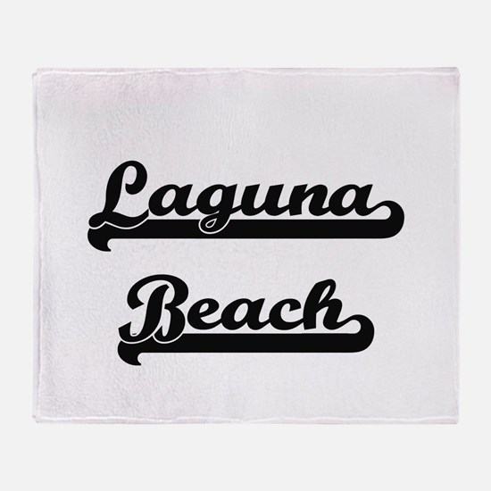 Laguna Beach Classic Retro Design Throw Blanket
