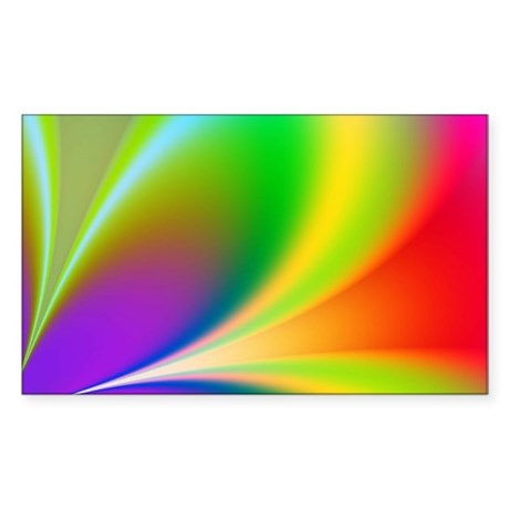 Funky Rainbow Flower Sticker