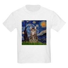Starry Night & Tiger Cat T-Shirt