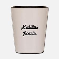 Malibu Beach Classic Retro Design Shot Glass